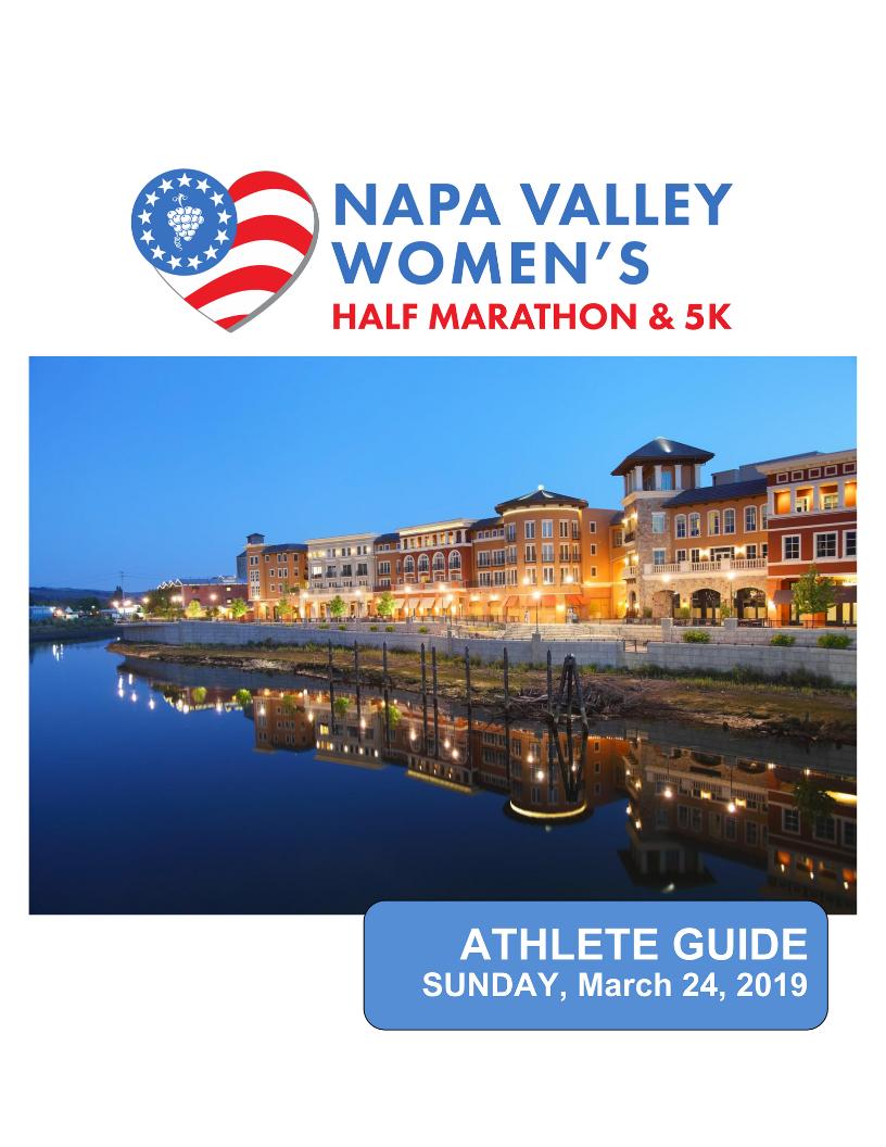 2019 Athlete Guide - Napa Valley Women's Half Marathon & 5K
