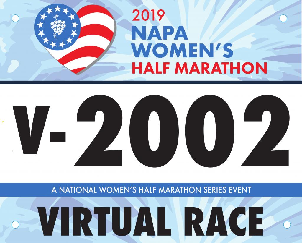 2019 Napa Virtual Half Marathon Race Bib
