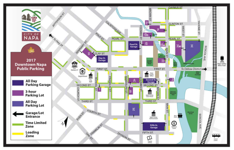 Napa Downtown Parking Map